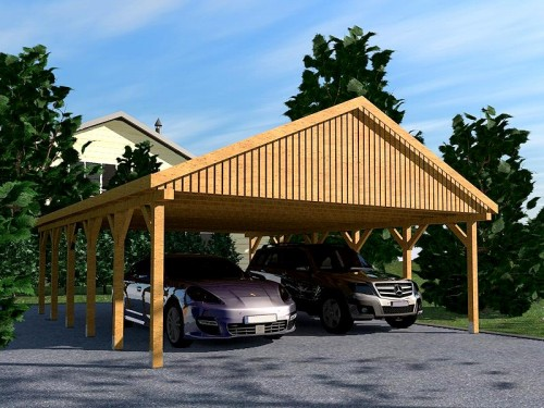 prikker carport satteldach kvh 600 x 900cm satteldach. Black Bedroom Furniture Sets. Home Design Ideas