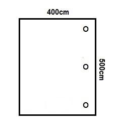 Prikker Carport Anlehn 400x500cm