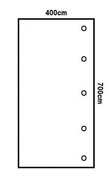 Prikker Carport Anlehn 400x700cm