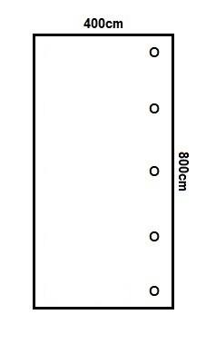 Prikker Carport Anlehn 400x800cm