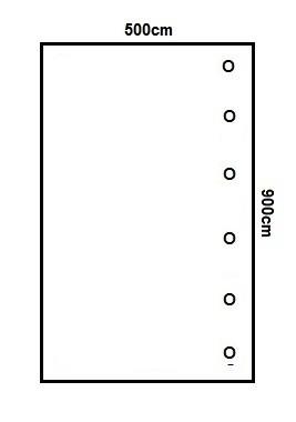 Prikker Carport Anlehn 500x900cm