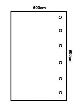 Prikker Carport Anlehn 600x900cm