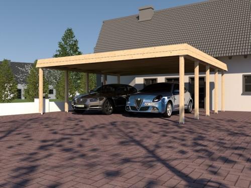 Prikker Carport Walmblende KVH 700 x 700cm