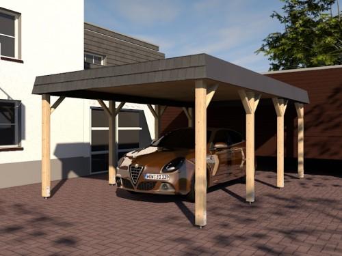 Prikker Carport Walmblende KVH 400 x 600cm