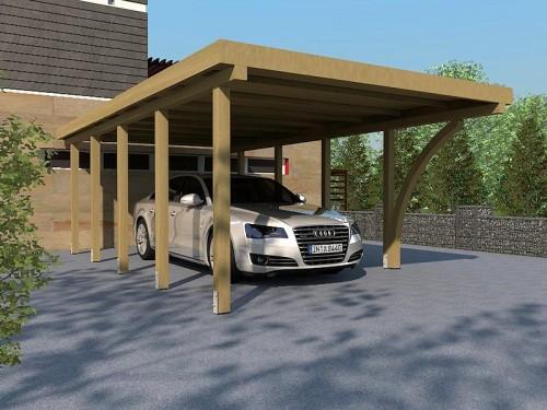 Prikker Carport Flachdach KDI 400 x 800cm