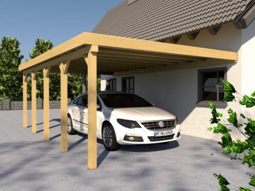 Prikker Carport Anlehn KDI 400 x 900cm