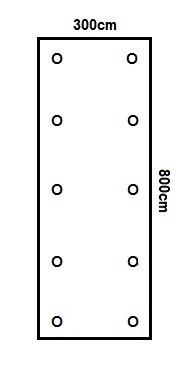 Prikker Carport Flachdach 300x800cm