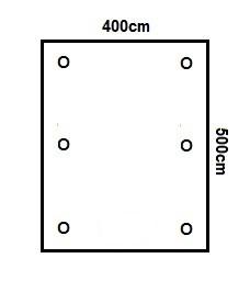 Prikker Carport Flachdach 400x500cm