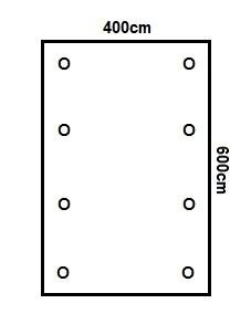 Prikker Carport Flachdach 400x600cm