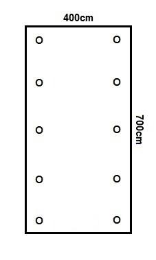 Prikker Carport Flachdach 400x700cm