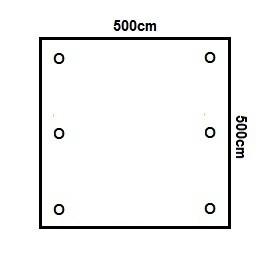 Prikker Carport Flachdach 500x500cm