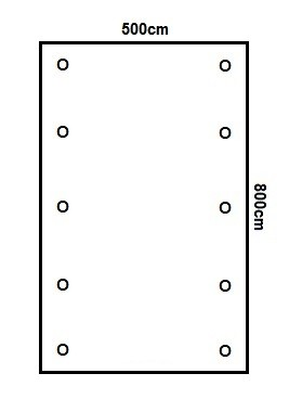 Prikker Carport Flachdach 500x800cm