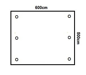 Prikker Carport Flachdach 600x500cm