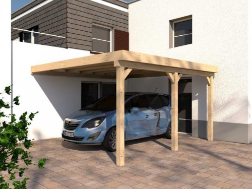 prikker carport anlehn bsh 400 x 500cm anlehn carports. Black Bedroom Furniture Sets. Home Design Ideas