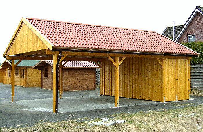 Prikker Carport Satteldach KVH 600 x 800cm