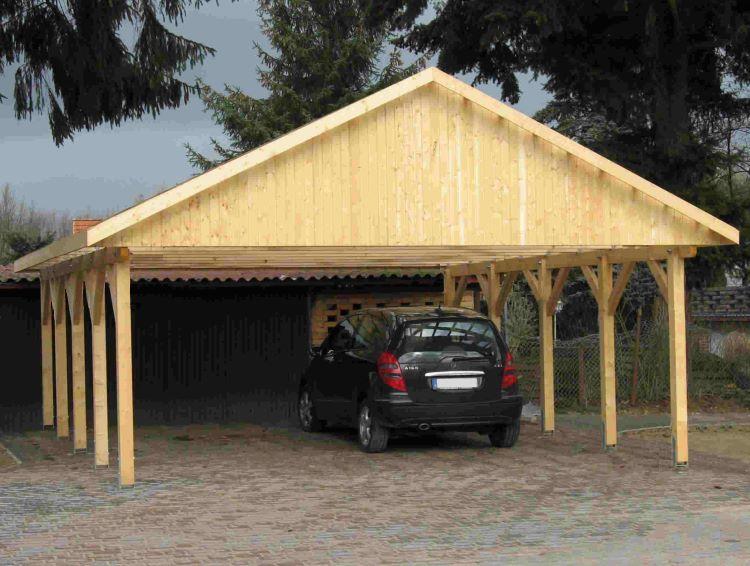 Prikker Carport Satteldach KVH 800 x 800cm