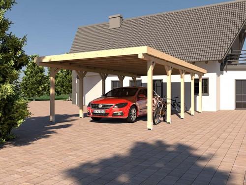 Prikker Carport Flachdach BSH 400 x 800cm