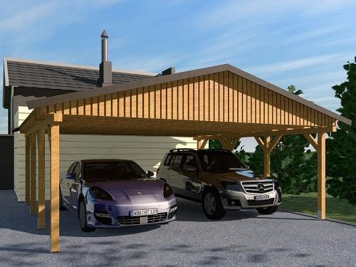 Prikker Carport Satteldach KDI 600 x 700cm