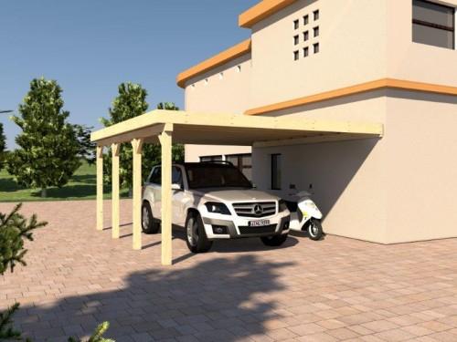 Prikker Carport Anlehn KVH 500 x 600cm