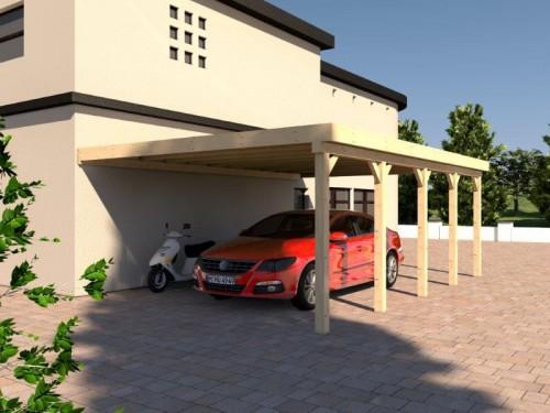Prikker Carport Anlehn KVH 500 x 800cm