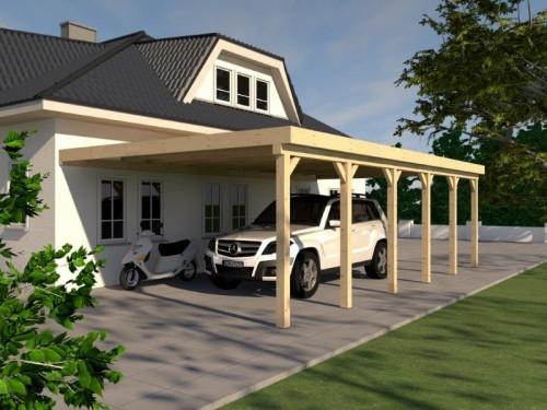 Prikker Carport Anlehn KVH 500 x 900cm