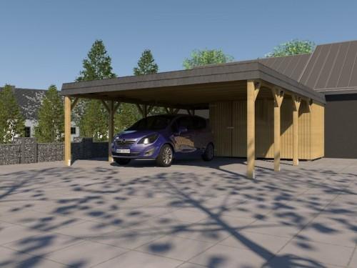Prikker Carport Walmblende KDI 700 x 800cm