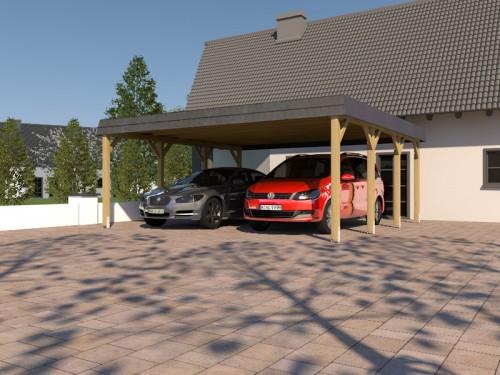 Prikker Carport Walmblende KDI 600 x 600cm