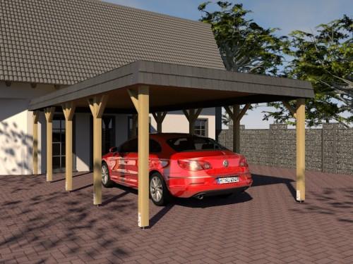 Prikker Carport Walmblende KDI 400 x 800cm
