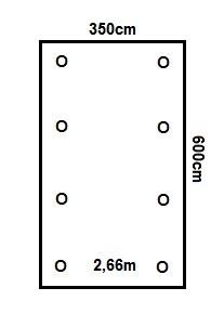 Prikker Carport Satteldach 350x600cm