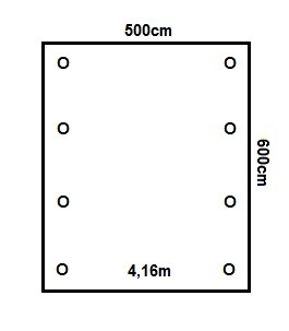 Prikker Carport Satteldach 500x600cm
