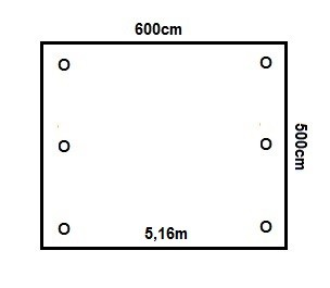 Prikker Carport Satteldach 600x500cm