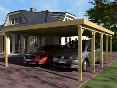 Prikker Carport Flachdach KDI 700 x 700cm