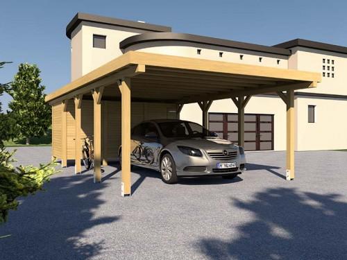 Prikker Carport Flachdach KDI 500 x 800cm
