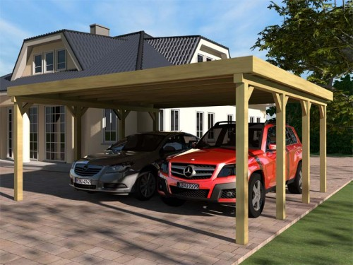 Prikker Carport Flachdach KDI 600x650cm