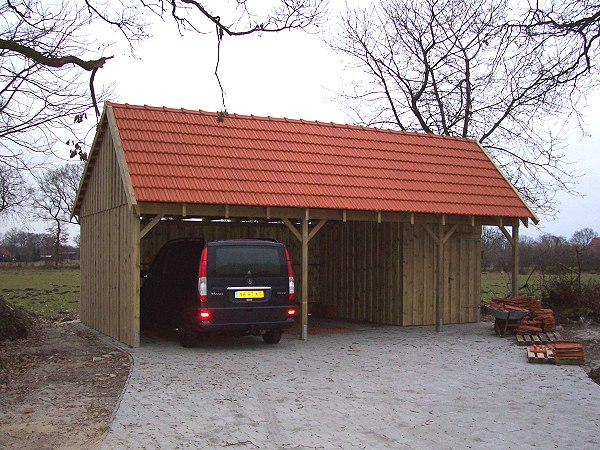 Prikker Carport Satteldach Remise 600 x 800cm