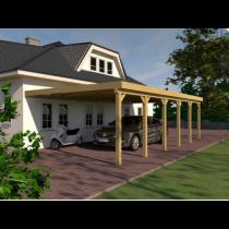 Prikker Carport Anlehn KDI 350 x 900cm