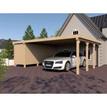 Prikker Carport Flachdach KVH 800 x 600cm