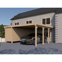 Prikker Carport Flachdach KVH 600 x 600cm