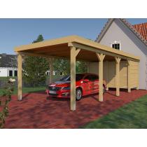 Prikker Carport Flachdach KVH 350 x 800cm
