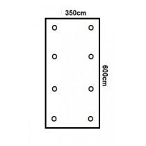 Prikker Carport Flachdach 350x600cm