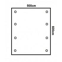 Prikker Carport Flachdach 500x600cm