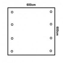 Prikker Carport Flachdach 600x600cm