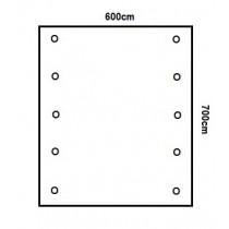 Prikker Carport Flachdach 600x700cm