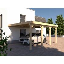 Prikker Carport Anlehn BSH 400 x 600cm