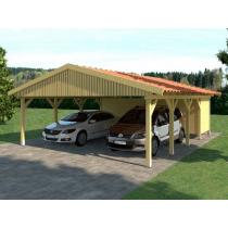 Prikker Carport Satteldach KDI 600 x 800cm