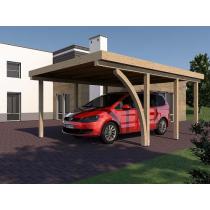 Prikker Carport Flachdach KVH 400 x 600cm