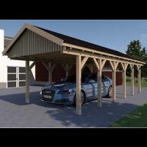 Prikker Carport Satteldach KVH 400 x 900cm