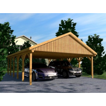 Prikker Carport Satteldach KVH 600 x 900cm