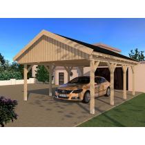 Prikker Carport Satteldach BSH 500 x 600cm