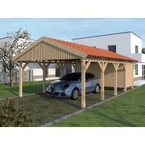 Prikker Carport Satteldach BSH 500 x 800cm